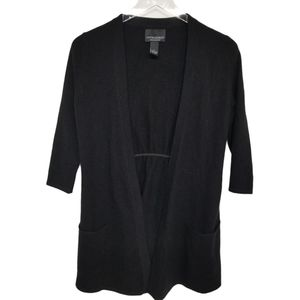 Cynthia Rowley Black 100% Cashmere Long Cardigan S